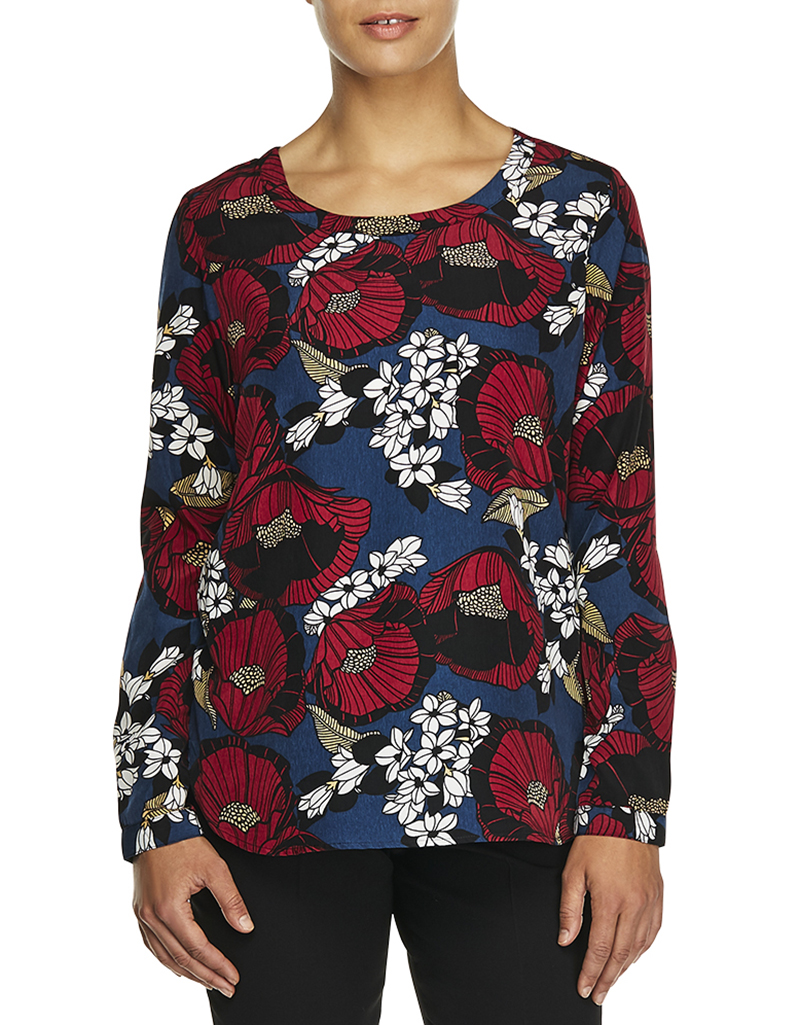 Floral blouse canada collar blouses for Haggar forever new shirts